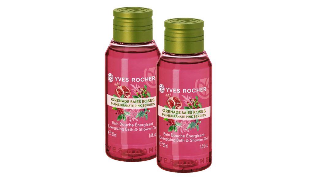 mùi hương gel tắm hạt lựu đỏ và tiêu hồng