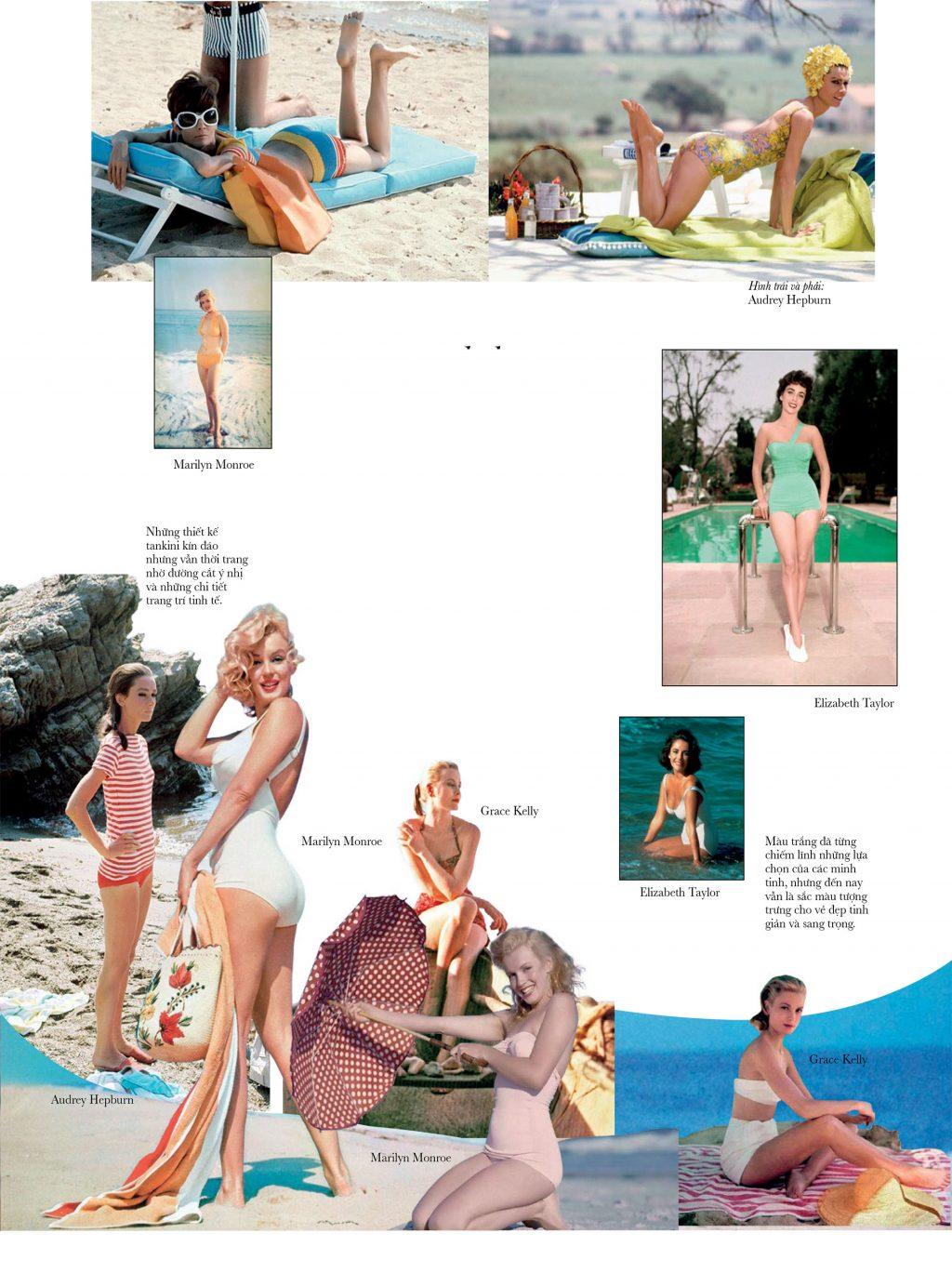 bikini trang phục đi biển của sao ngày xưa