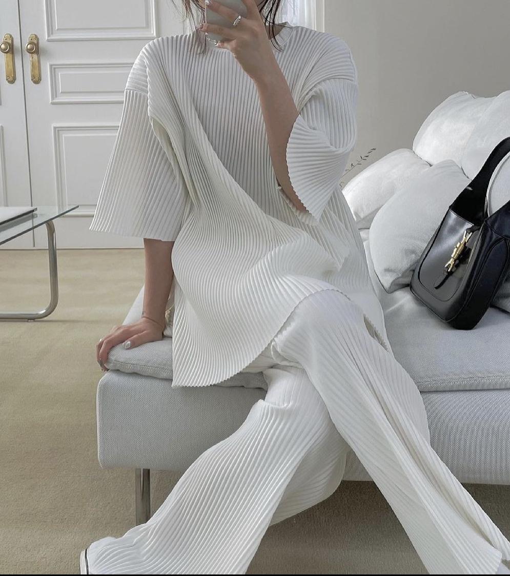 Set đồ vải tăm trắng