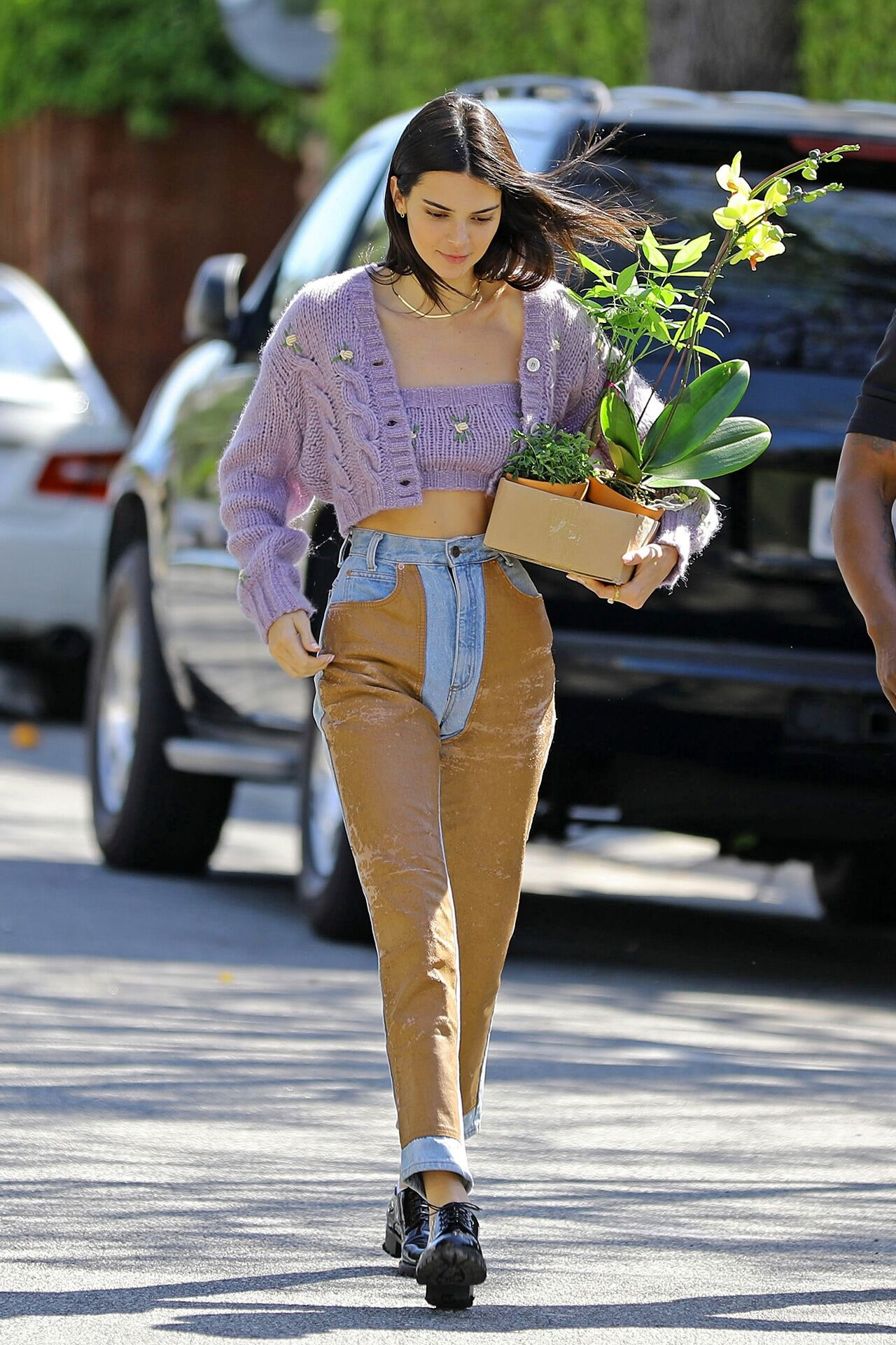 kendall jenner cropped cardigan
