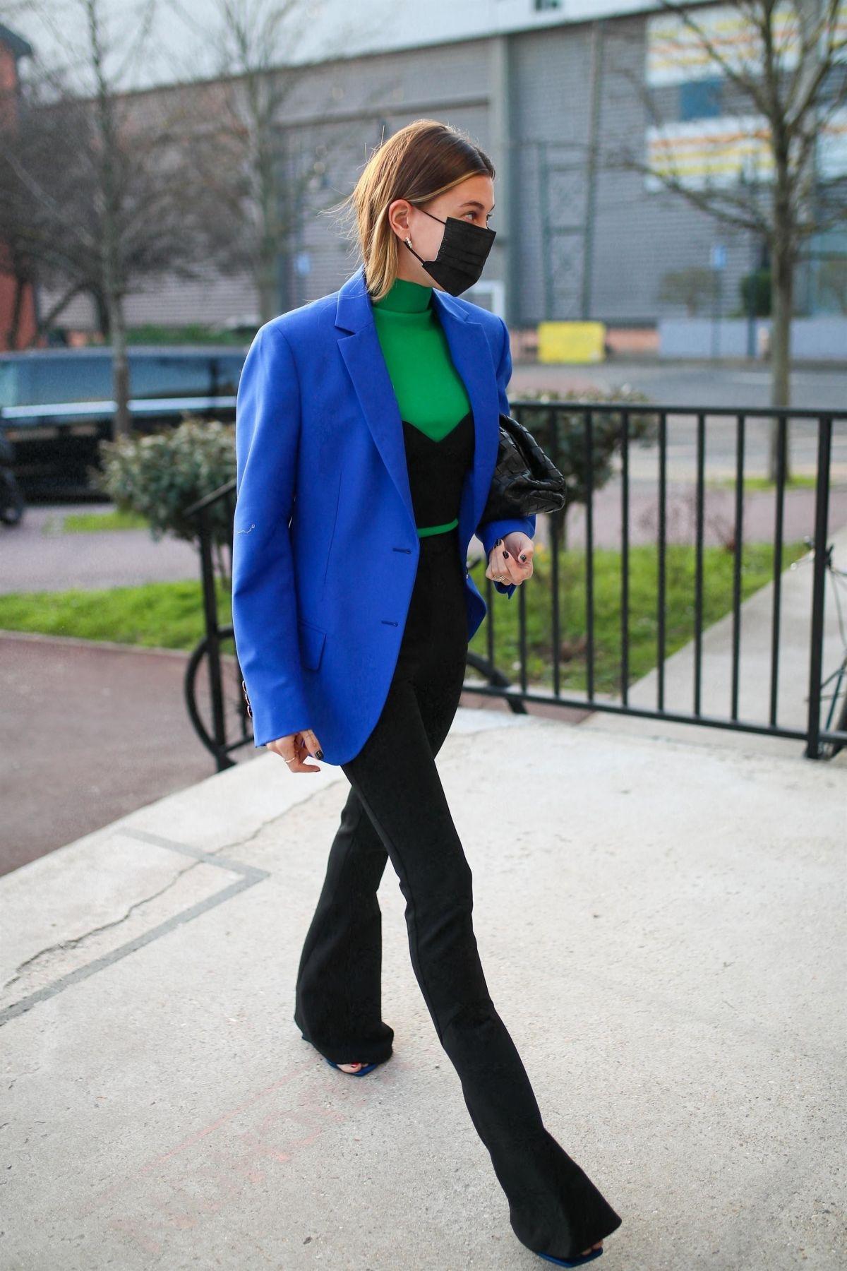 Áo blazer oversized xanh lam