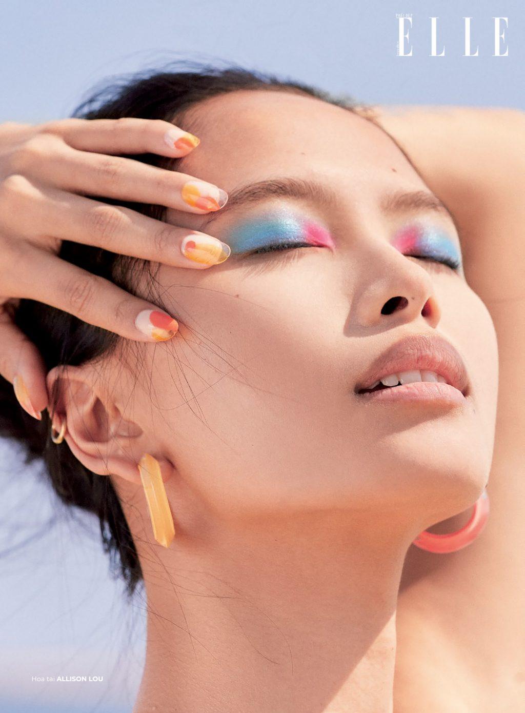 trang điểm mắt pastel
