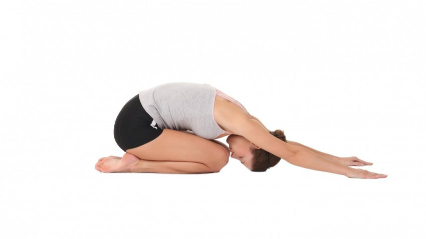 Tư thế Yoga Hip - Child's Pose Balasana (tư thế em bé)