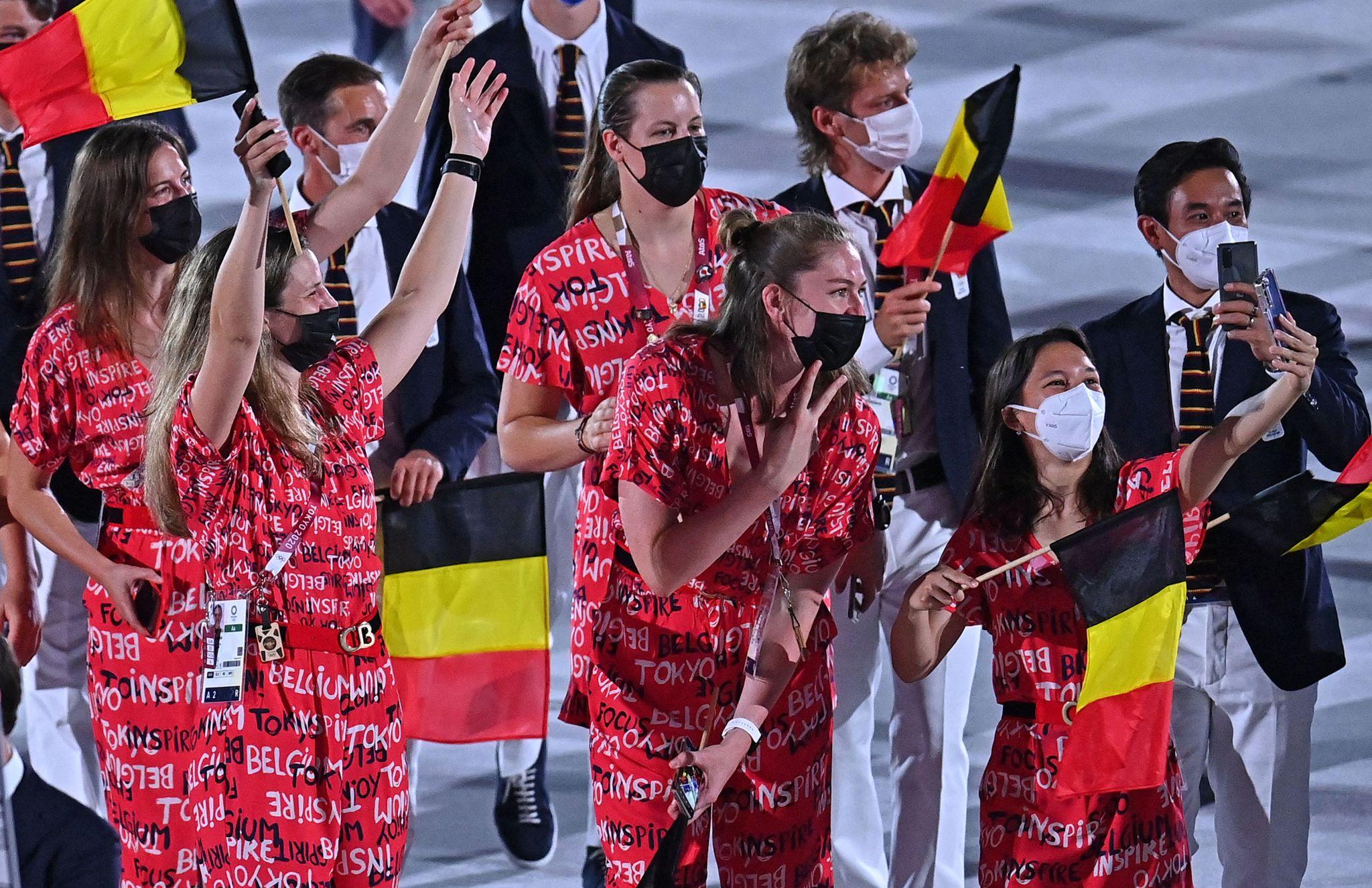 VĐV Bỉ tại lễ khai mạc