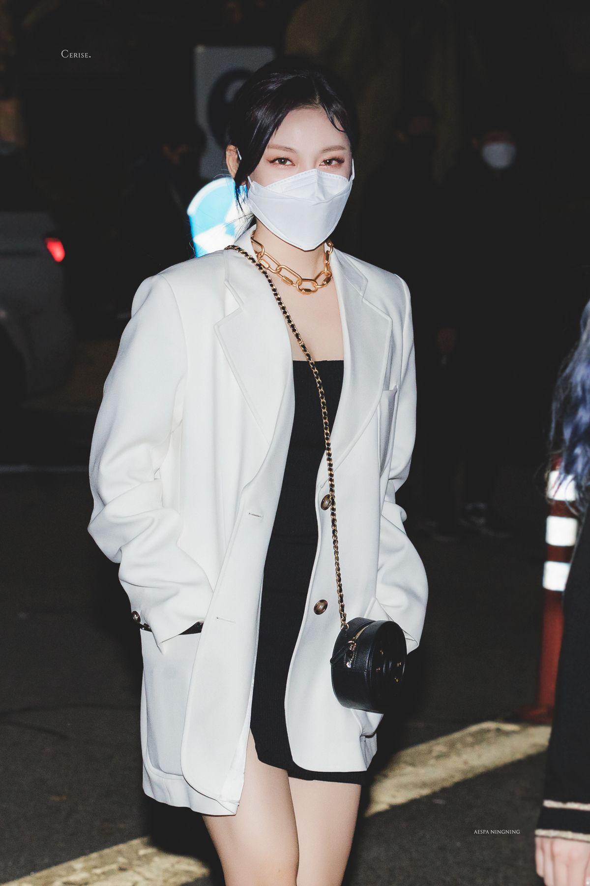 Thời trang ningning aespa áo blazer be
