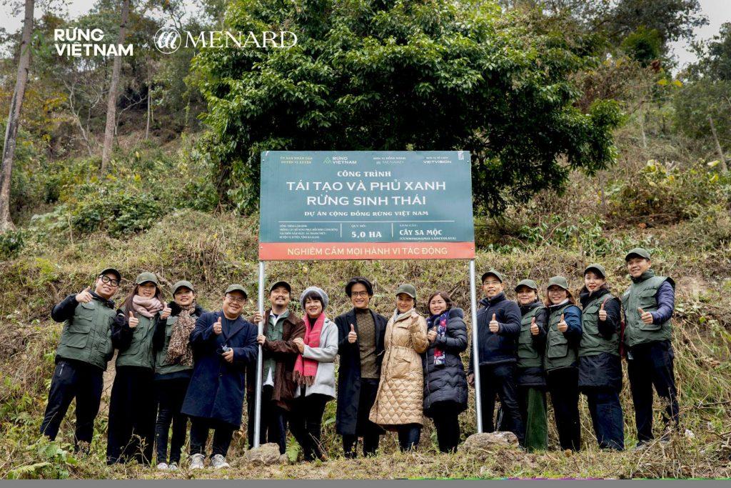 Dự án rừng Việt Nam cùng thương hiệu Menard