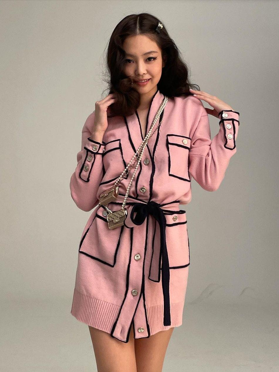 Jennie Black Pink Chanel Cardigan