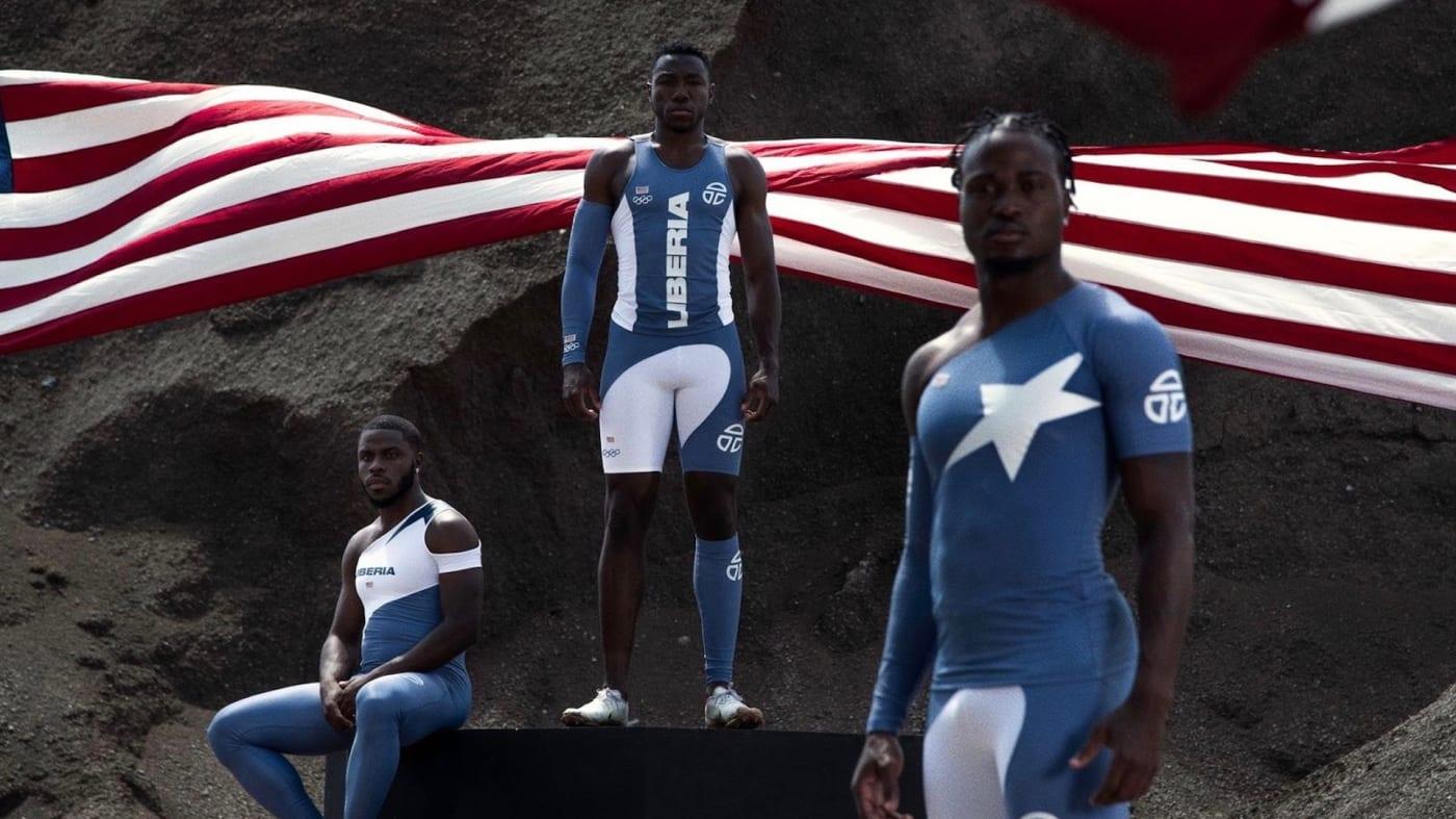 đồng phục thi đấu điền kinh Liberia