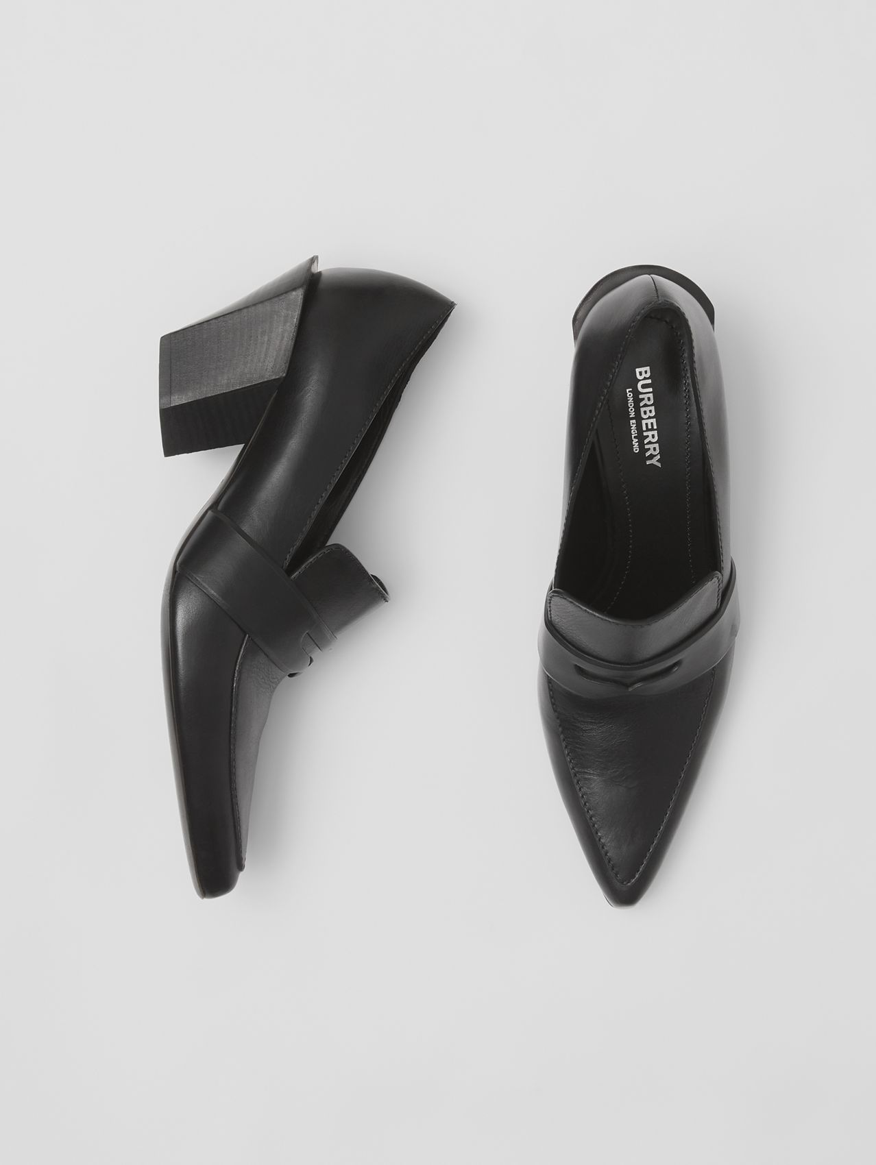 Burberry pointed toe loafers