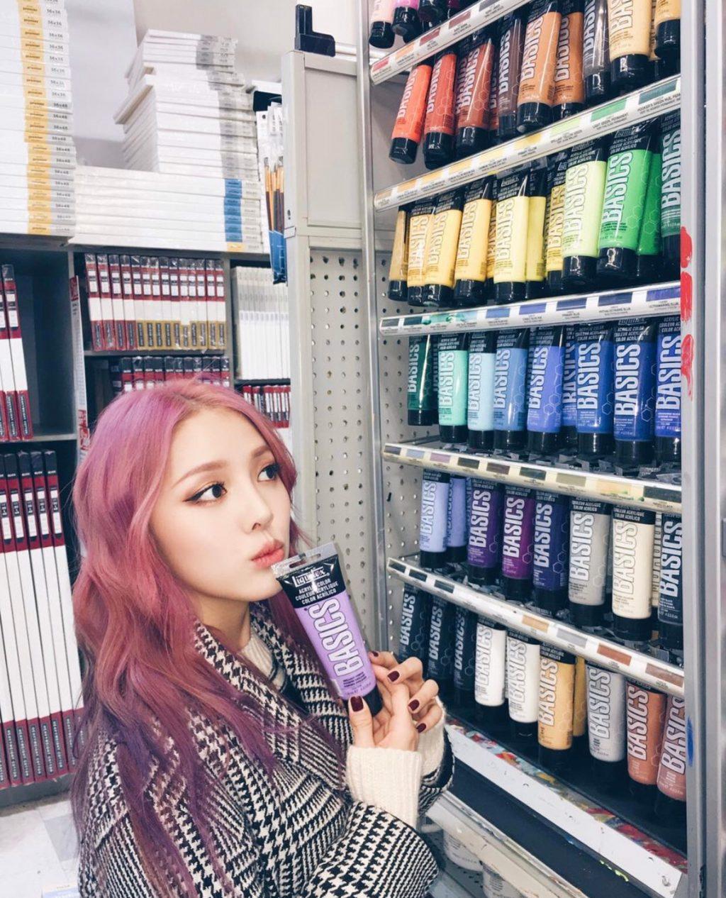Kiểu tóc hồng ánh tím Rapinkoe