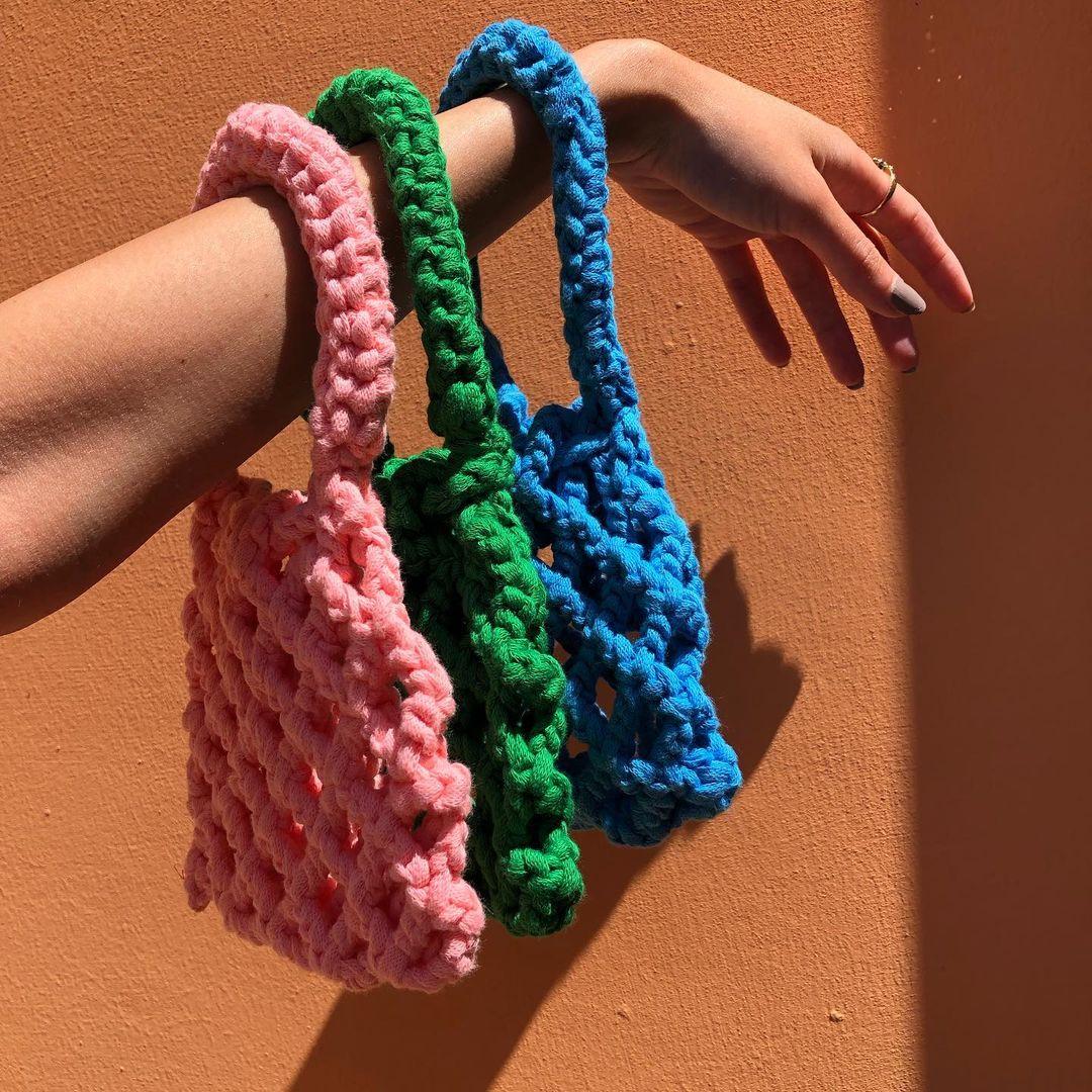 túi xách len đan móc