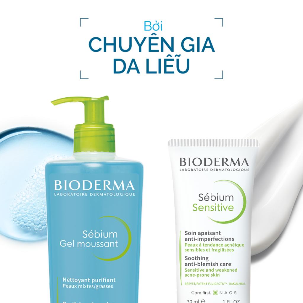 Chăm sóc da mụn với dòng Sébium từ Bioderma