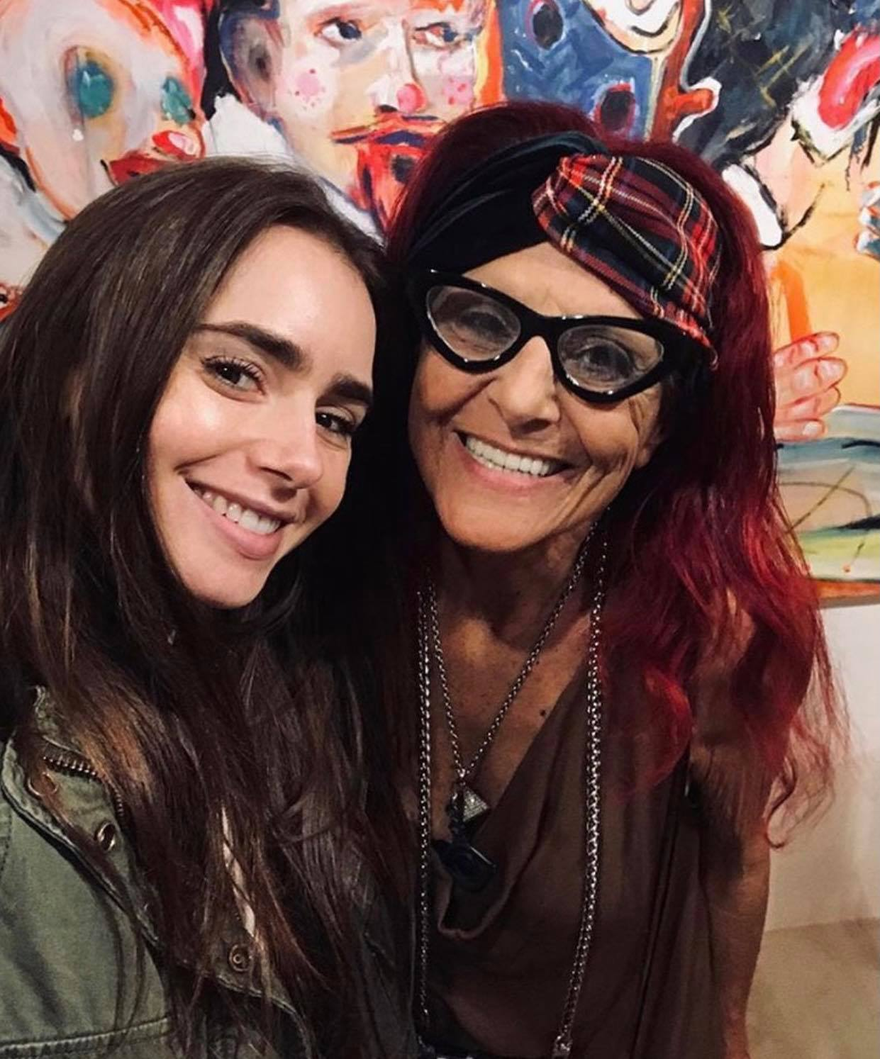 lily collins with patriciafiled