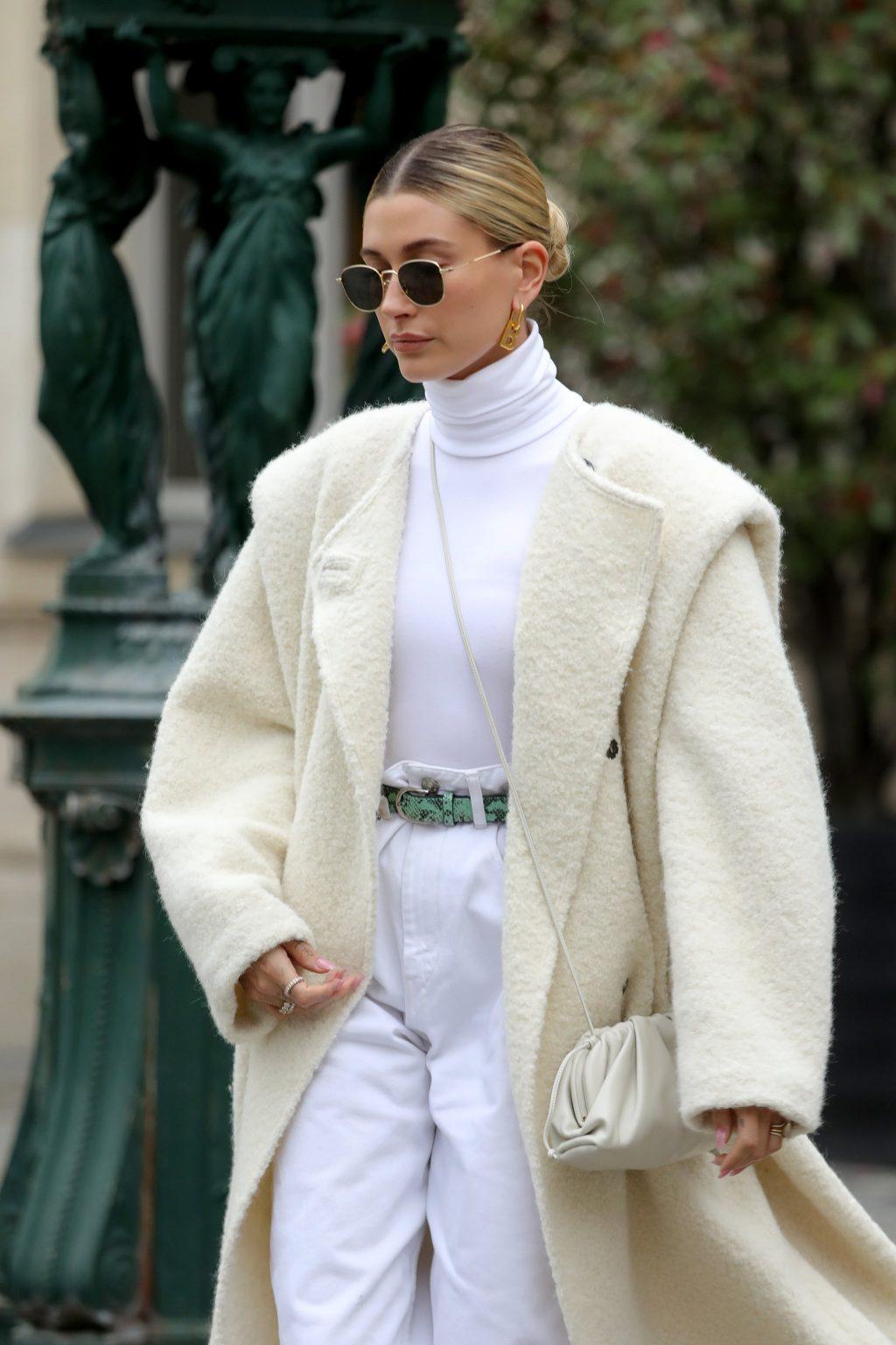 Hailey Bieber at Paris Fashion Week 2021