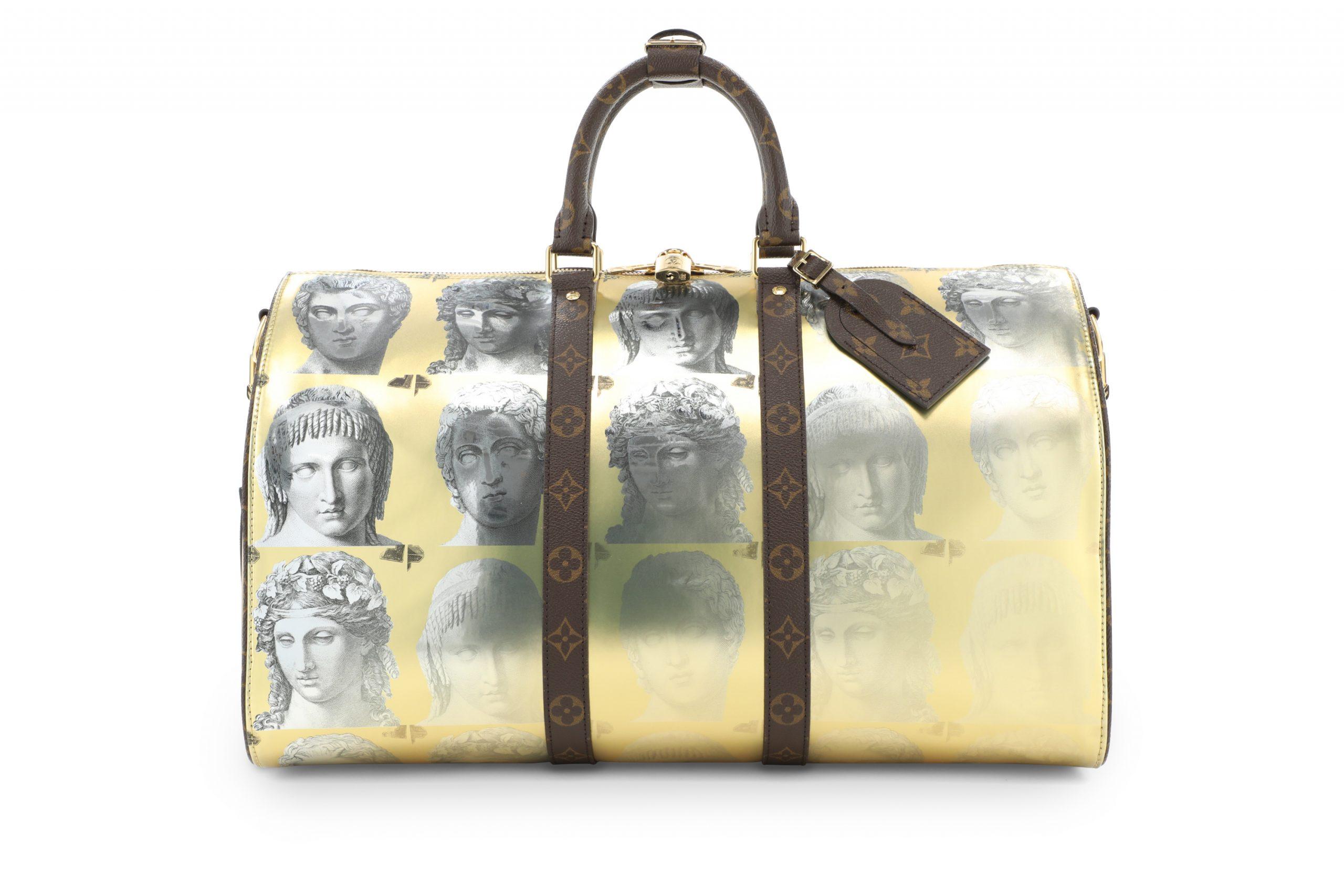 Duffle Bag phủ metallic vàng