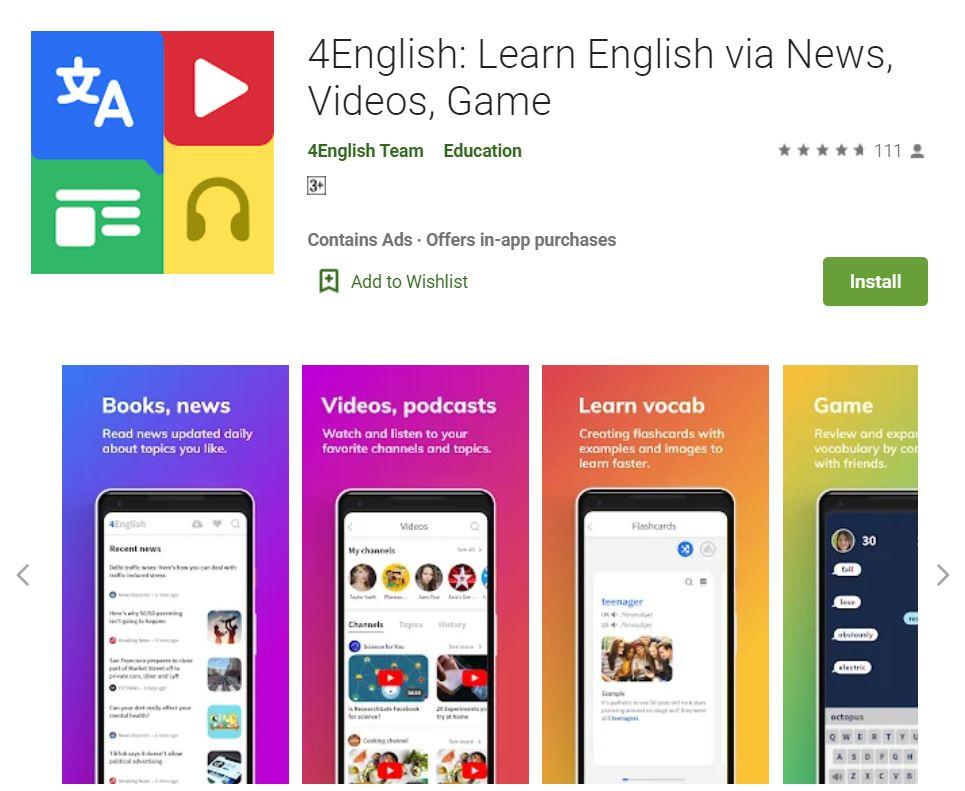 ứng dụng 4english