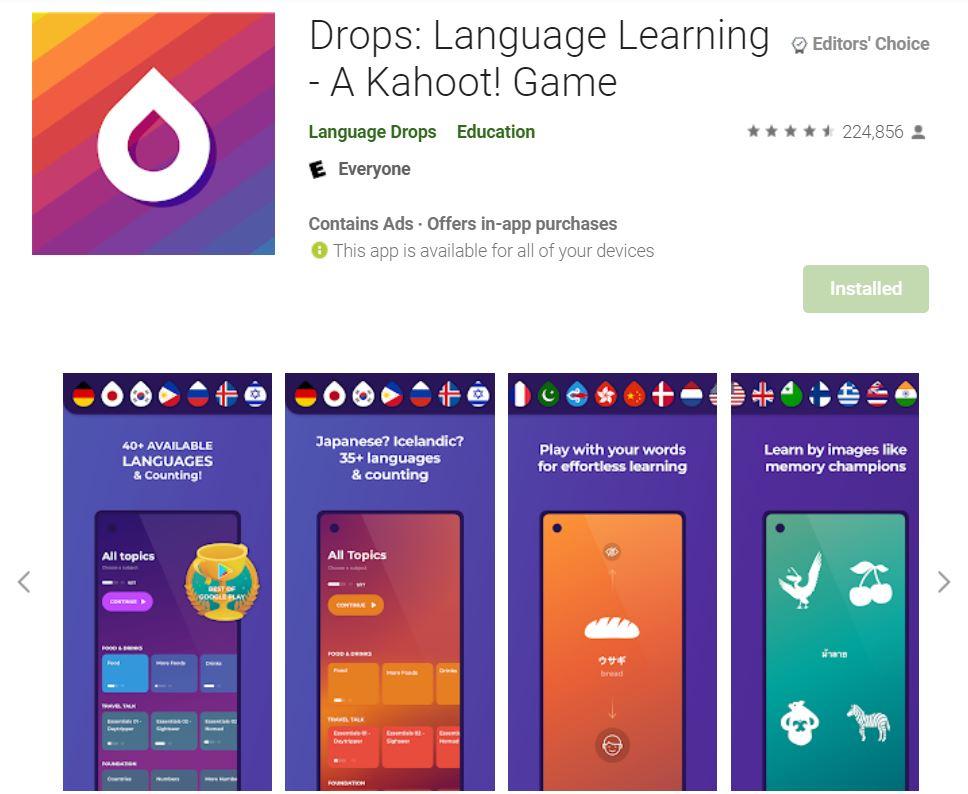 ứng dụng drops