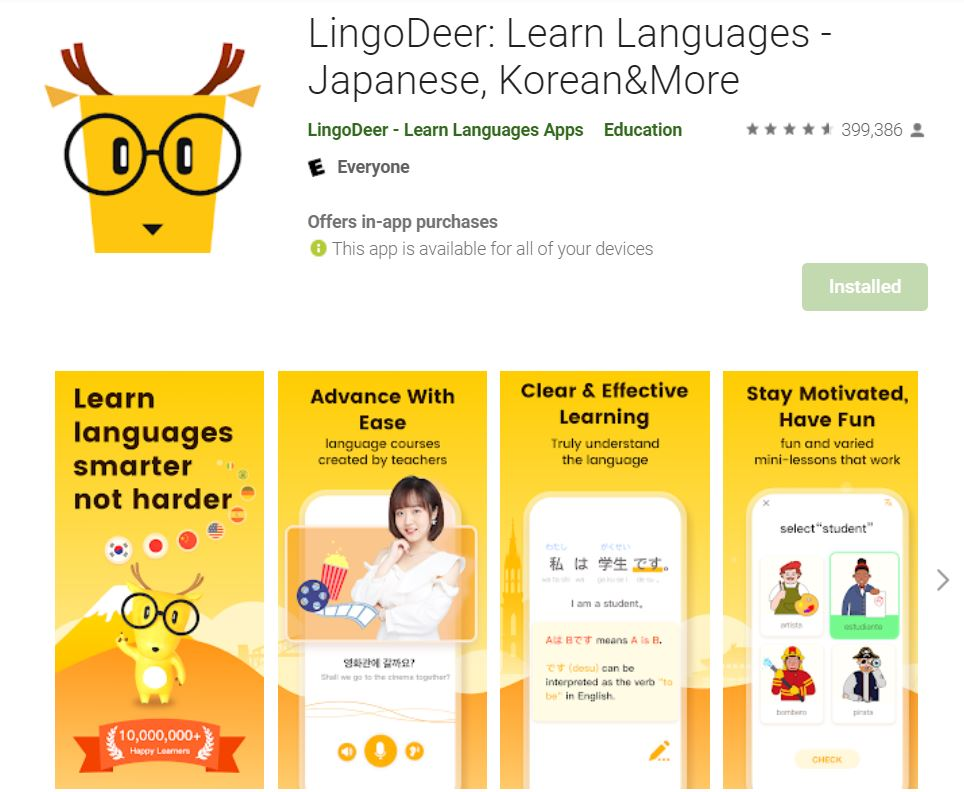 ứng dụng lingodeer