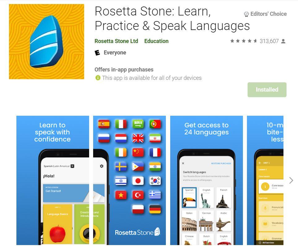 ứng dụng rosetta stone