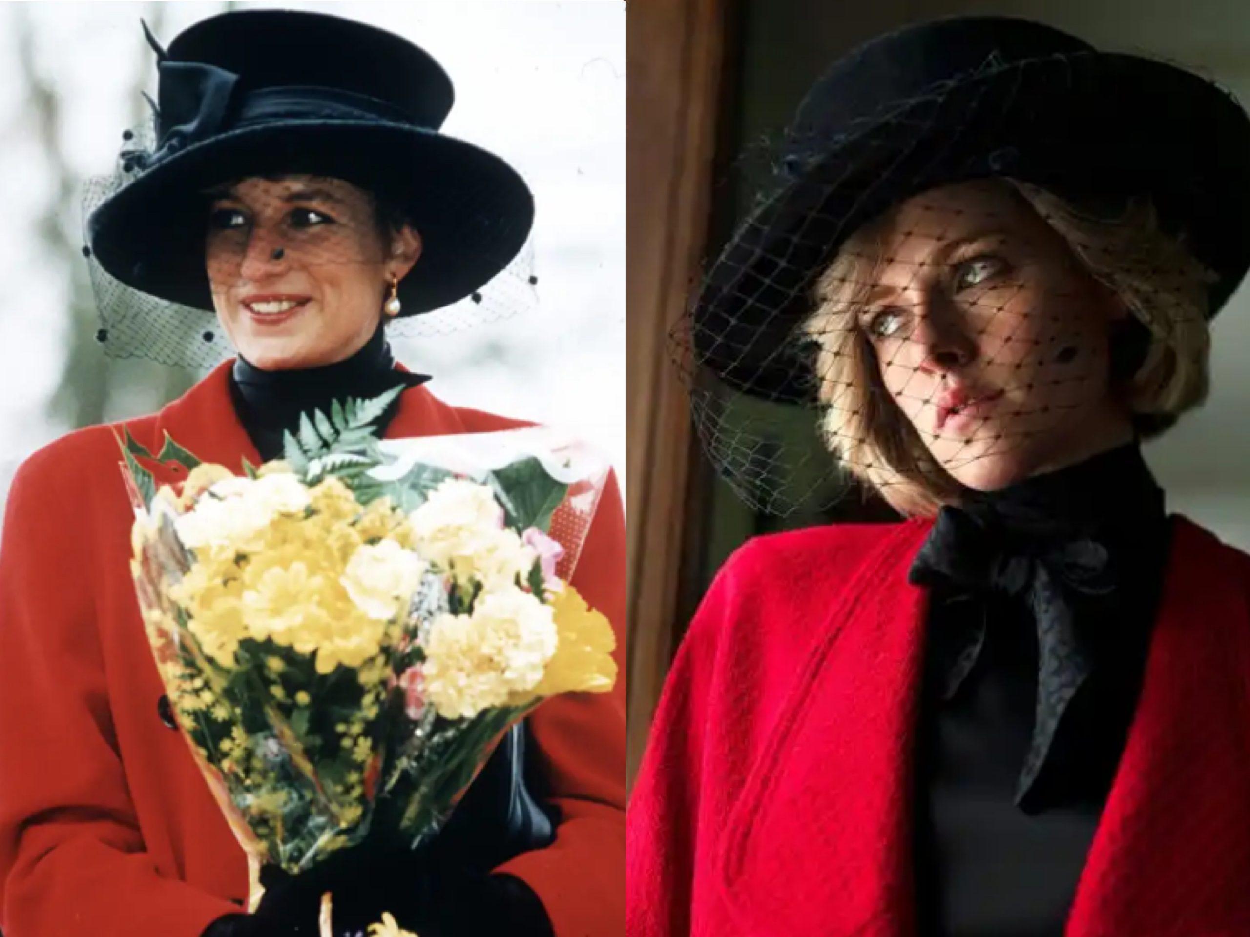 Chiếc áo khoác chanel đỏ trong phim Spencer