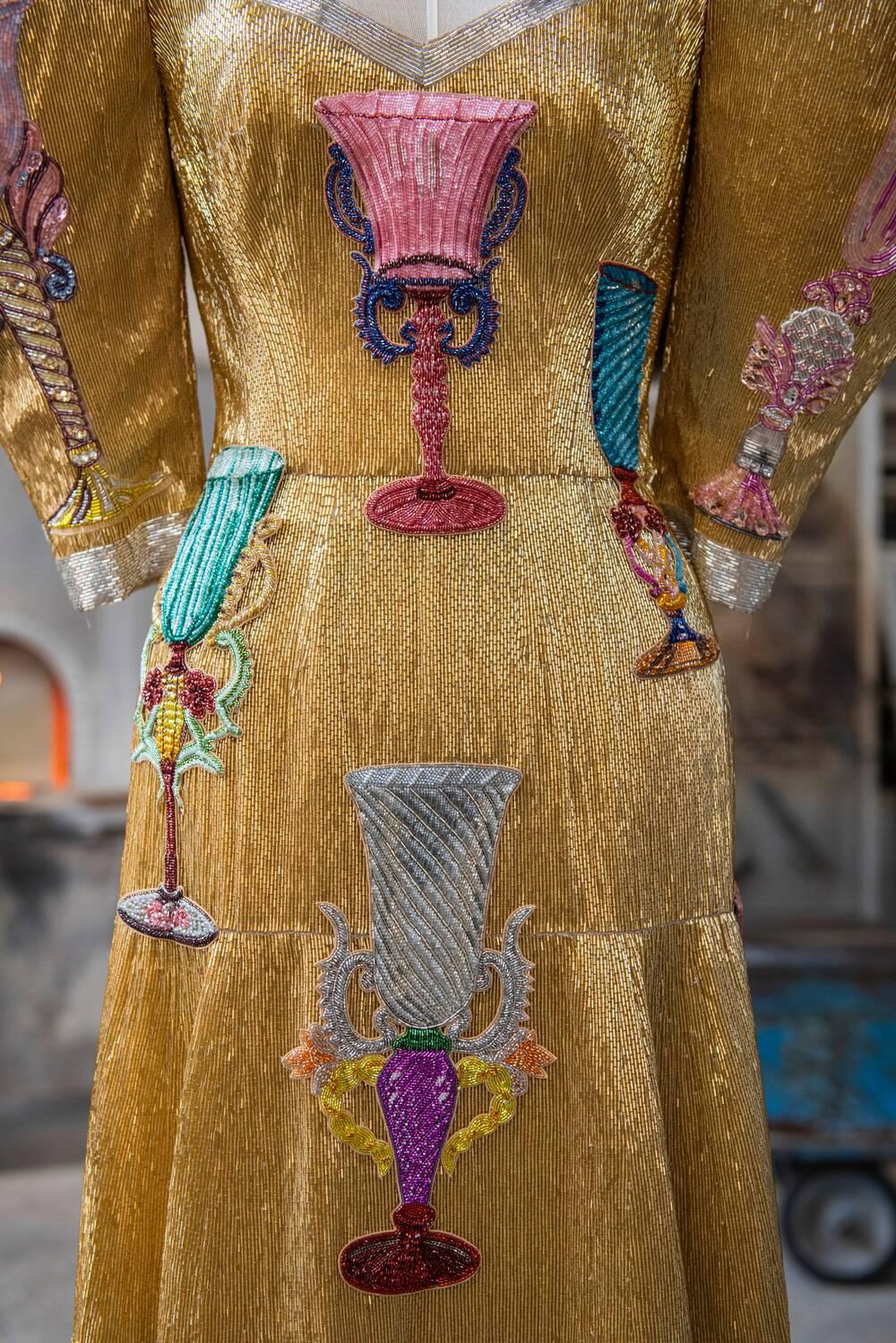 Thiết kế váy sequin Dolce & gabbana