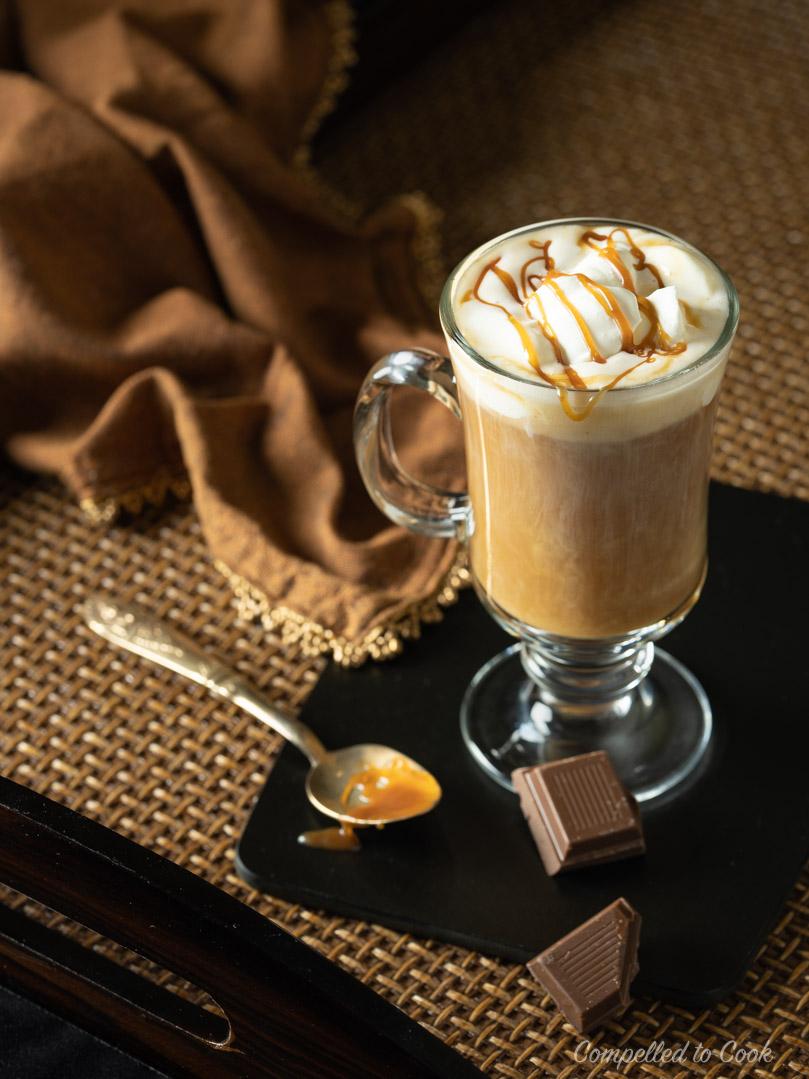 công thức pha chế caramel irish coffee