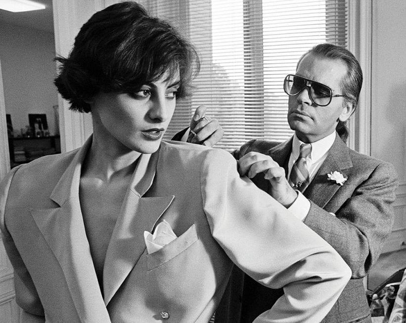 ntk thời trang Karl Lagerfeld cùng thiết kế của mình