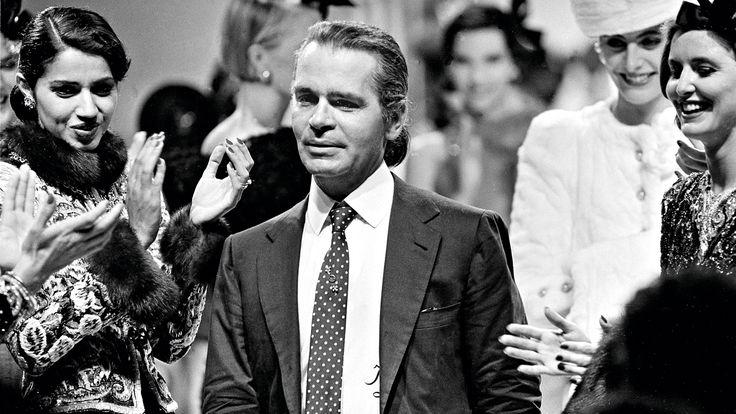 hình ảnh thời trẻ của Karl Lagerfeld
