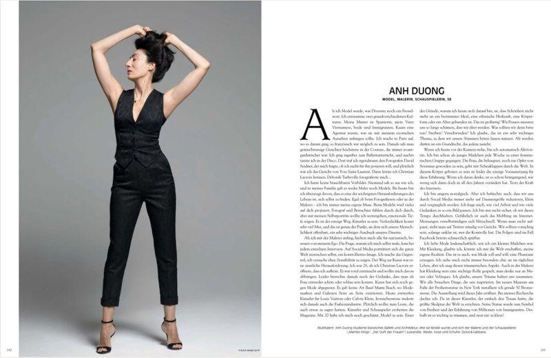 Bài báo về Ánh Dương trên tạp chí Vogue
