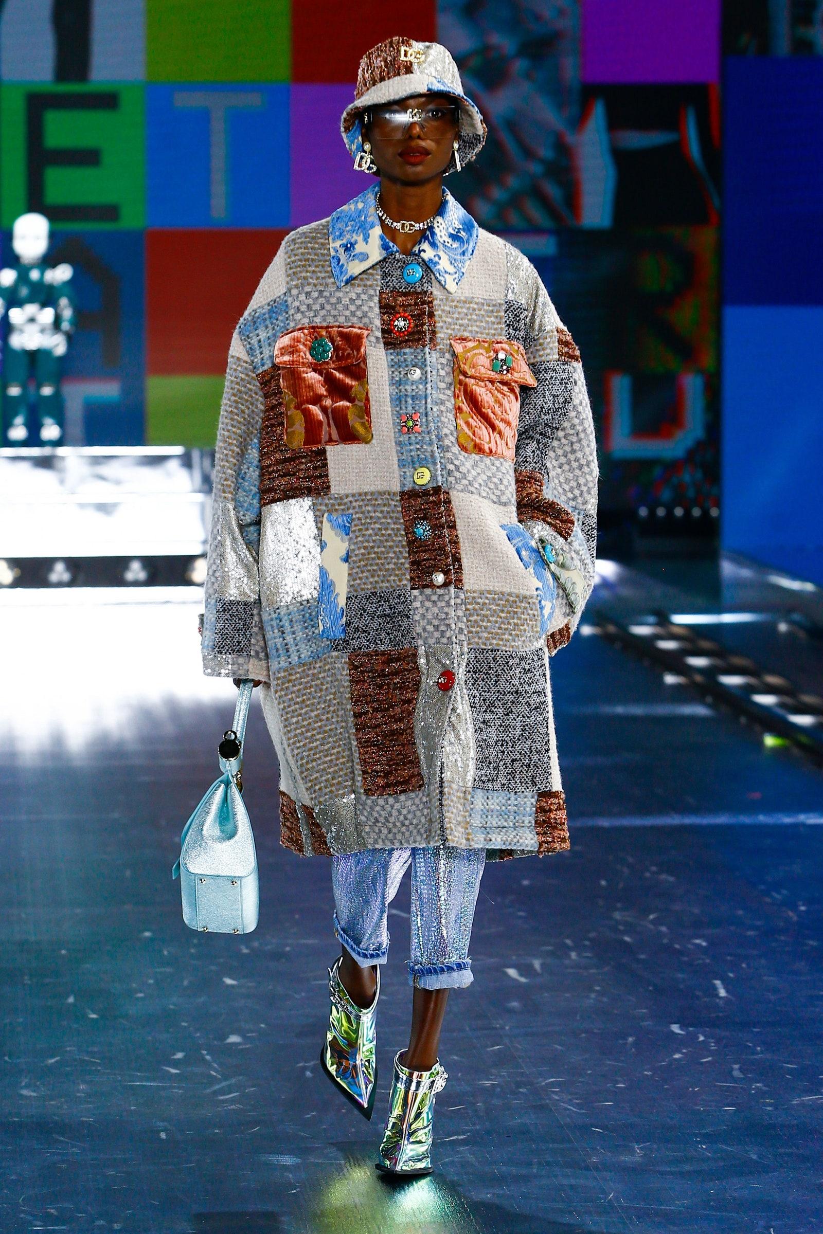 Patchwork fashion texture D&G