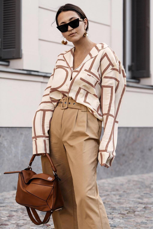 art deco fashion pattern shirt