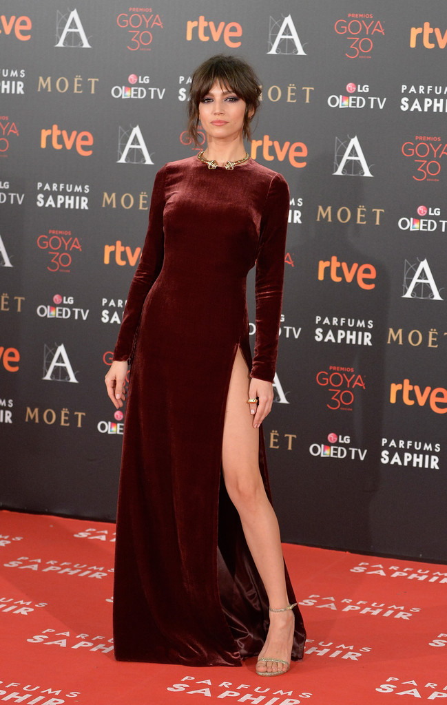 Ursula Corbero tại Goya Cinema Awards năm 2016 ở Madrid Marriott Auditorium
