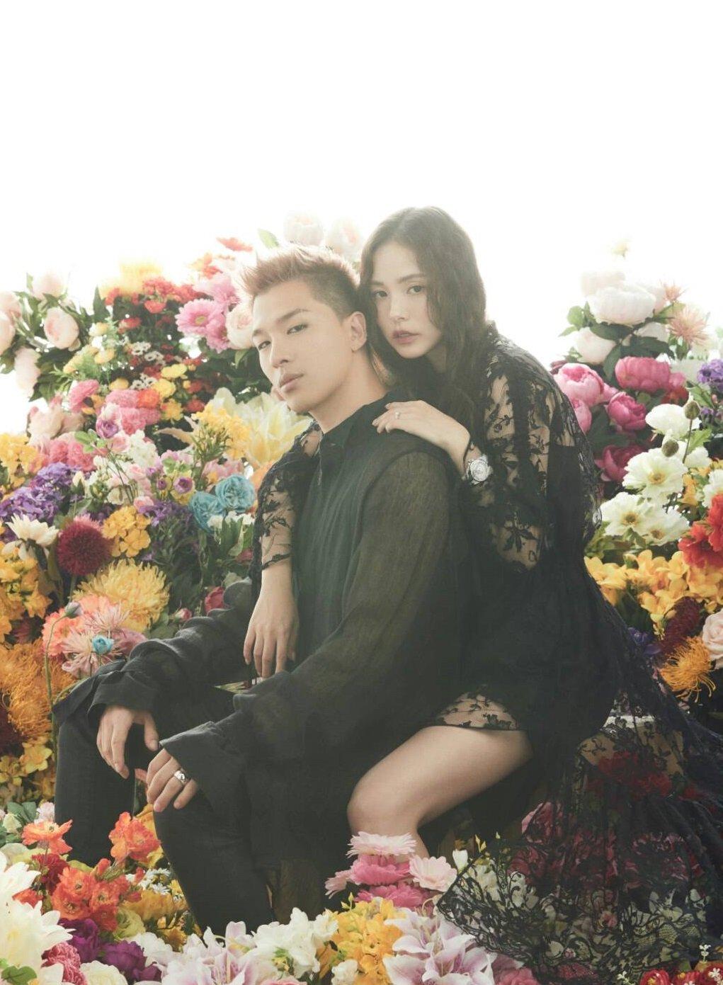 cặp đôi taeyang và min hyo rin