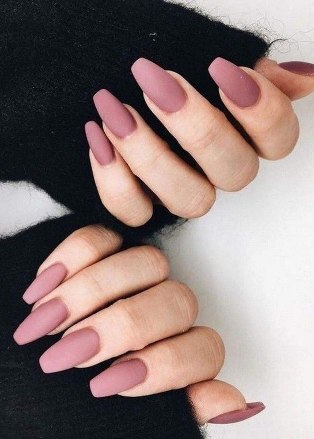 màu nail mauve