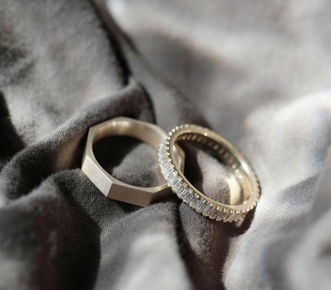 his & her wedding band