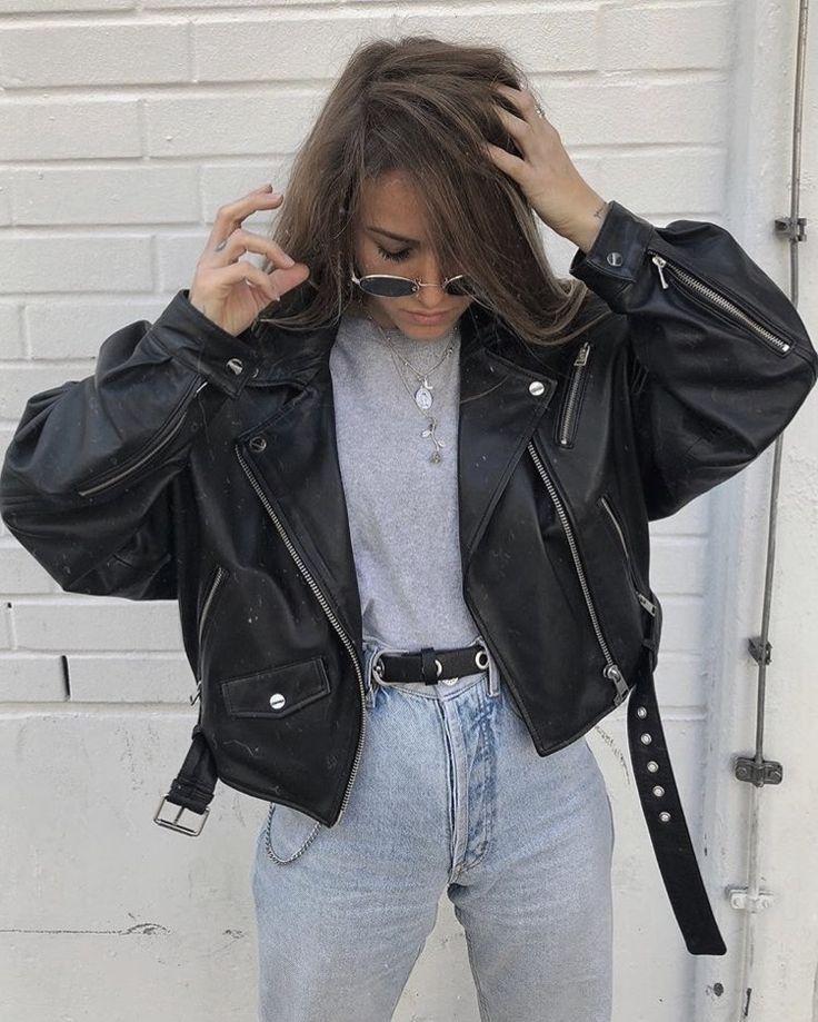 áo khoác da thời trang