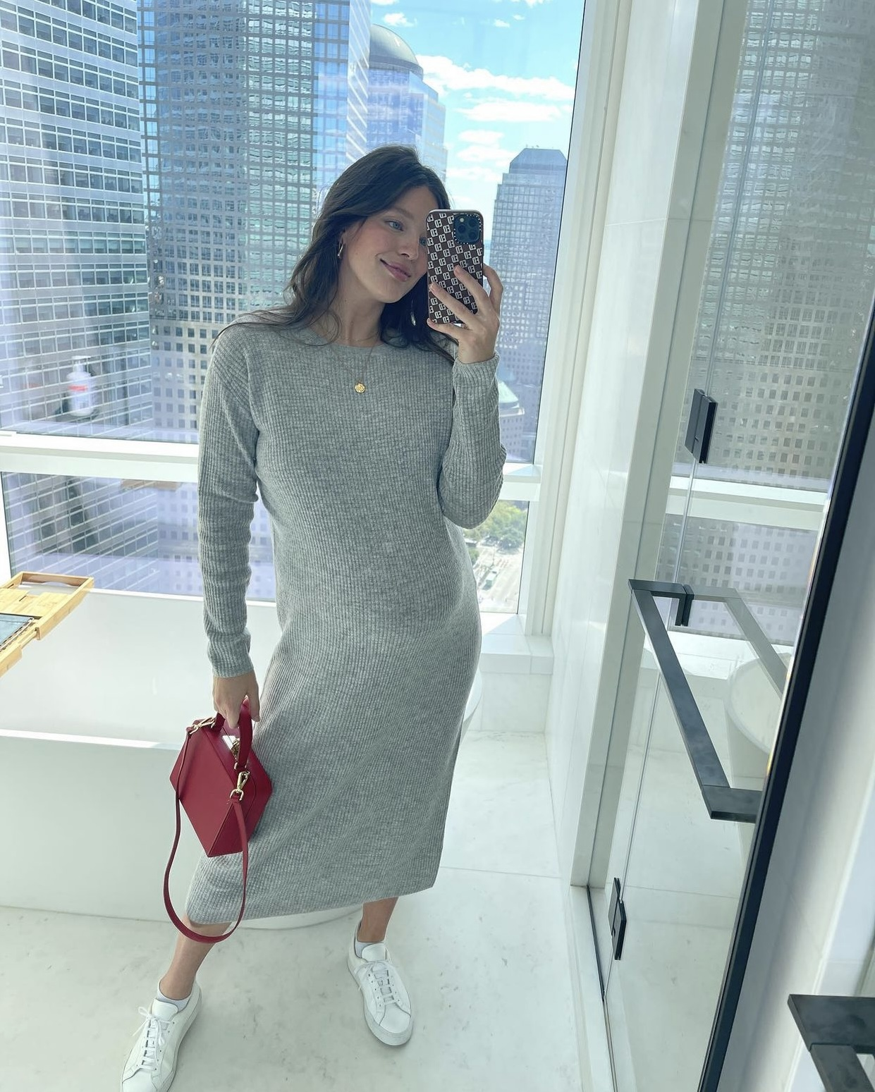 Emily Didonato's maternity look