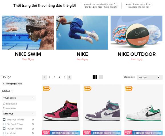 Nike Online Shopping
