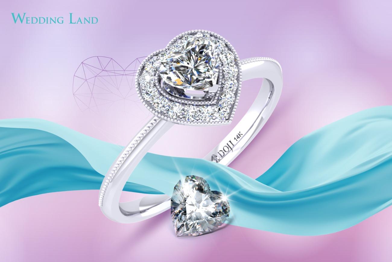 Nhẫn kim cương trái tim
